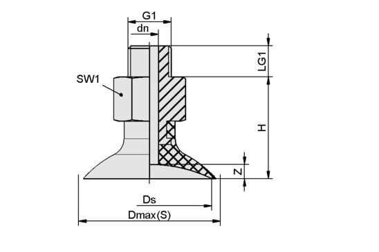 SGN 30 NBR-55 G1/8-AG