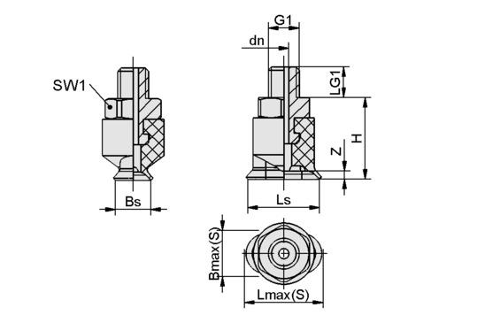 SGON 7x3.5 NBR-60 M3-AG