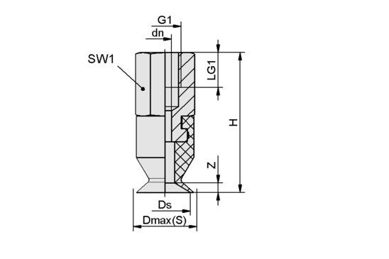 SGAN 13 SI-55 G1/8-IG