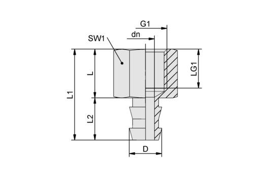 SA-NIP N035 G1/4-IG DN550