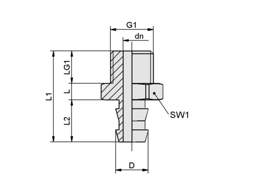 SA-NIP N035 G1/4-AG DN550