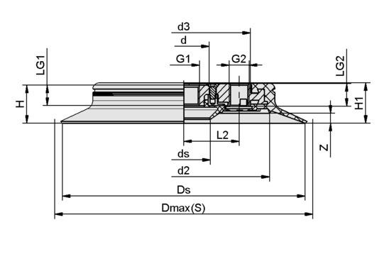 SPC 250 NBR-55 G1/2-IG
