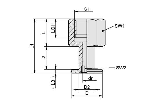 SA-NIP N004 G1/8-IG DN200