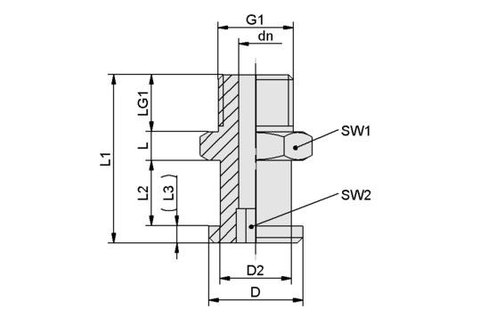 SA-NIP N008 G1/8-AG DN350