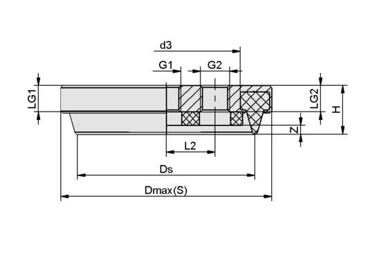 SPK 110 MOS EPDM-15 G1/2-IG