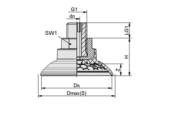 SAG 80 NBR-60 G1/4-AG