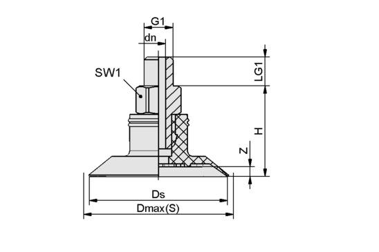 SGPN 15 HT1-60 G1/8-AG