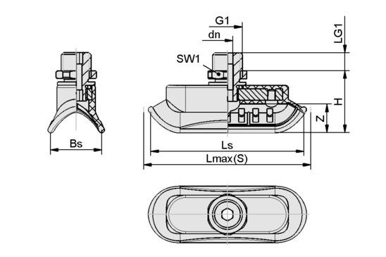 SAOK 70x25 NBR-60 G1/4-AG