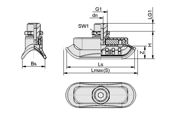 SAOK 70x25 HT2-65 G1/4-AG