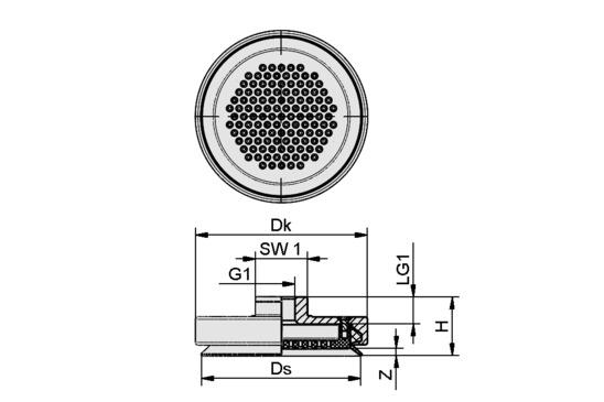 SPL 115 POM-NBR G1/4-IG