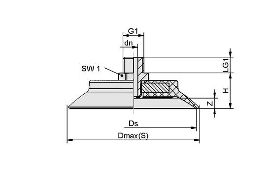 SUF 60 NBR-55 G1/4-AG