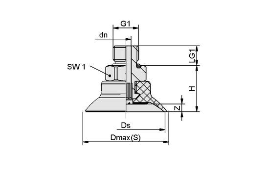 SUF 40 NBR-55 G1/8-AG