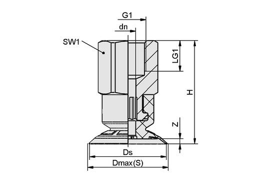 SFF 40 EPDM-45 G1/4-IG