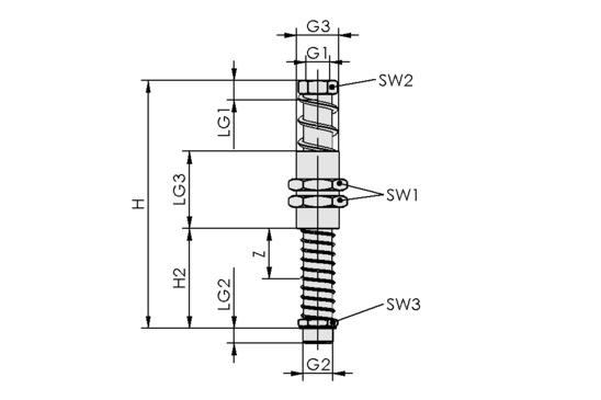 FSTA-HD G3/8-AG 50