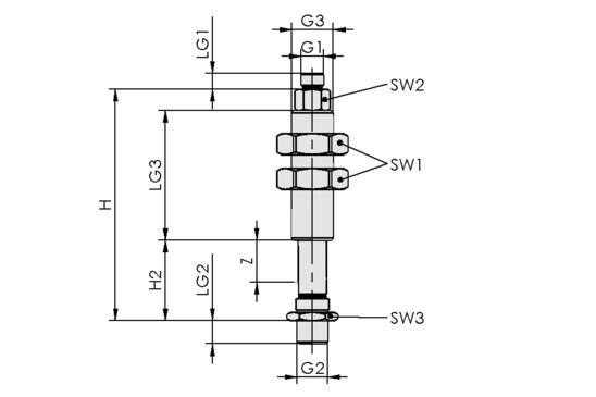 FSTI G3/8-AG G1/8-AG 50 VG