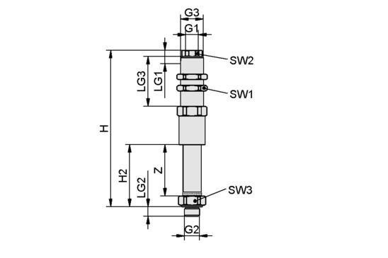 FSTE-HDB G3/8-AG 45 VG-AB