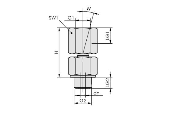 KGL G1/4-IG M10x1.25-AG