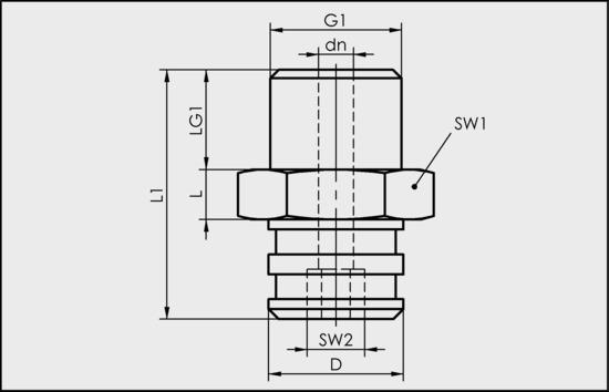 SA-NIP N023 G1/4-AG DN350