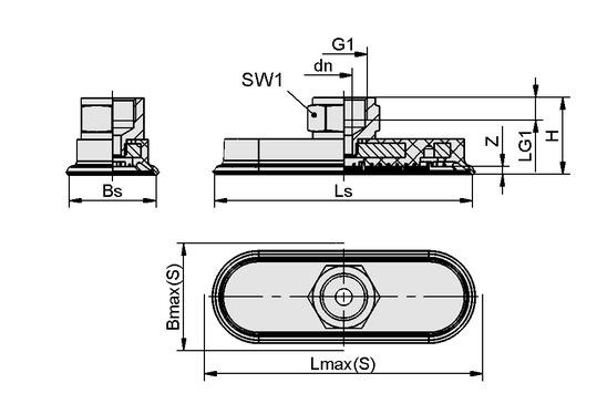 SAOF 120x60 NBR-45 NPT3/8-IG