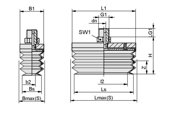 FSGB-R 80x50 SI-50 G1/4-AG