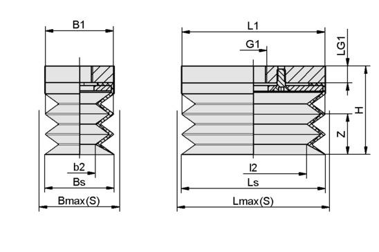 FSGB-R 60x29 NBR-50 G1/8-IG