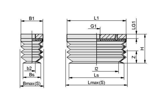 FSGB-R 80x40 SI-50 G1/8-IG