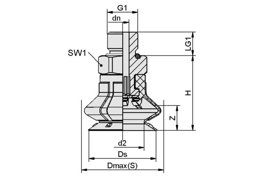 SPB1 15 ED-65 G1/8-AG