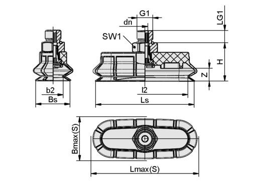 SPOB1 60x20 ED-65 G1/8-AG