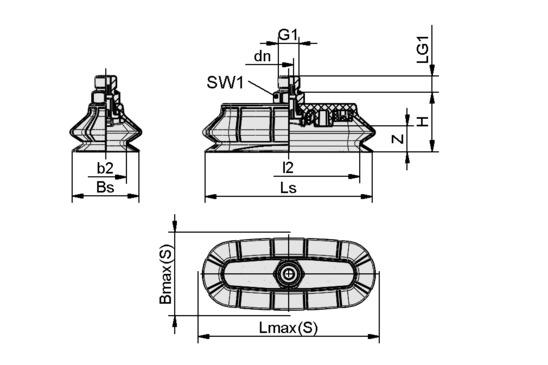 SPOB1 100x40 ED-65 G1/4-AG