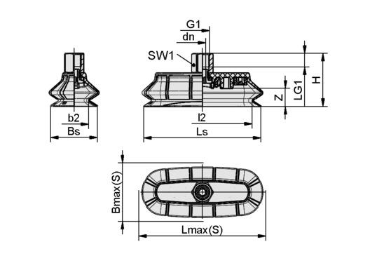 SPOB1 100x40 ED-65 G1/4-IG
