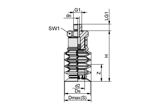 SPB4 30 SI-55 G1/8-AG
