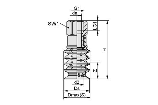 SPB4 30 SI-55 G3/8-IG
