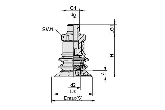 SPB2f 40 SI-55 G1/4-AG