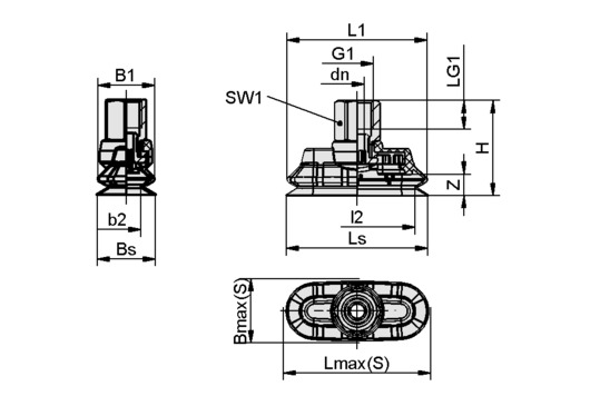 SPOB1f 60x25 SI-55 G1/4-IG