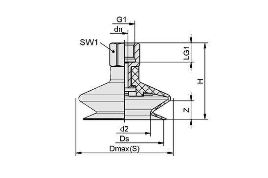 FSGA 11 NBR-ESD-55 G1/8-IG