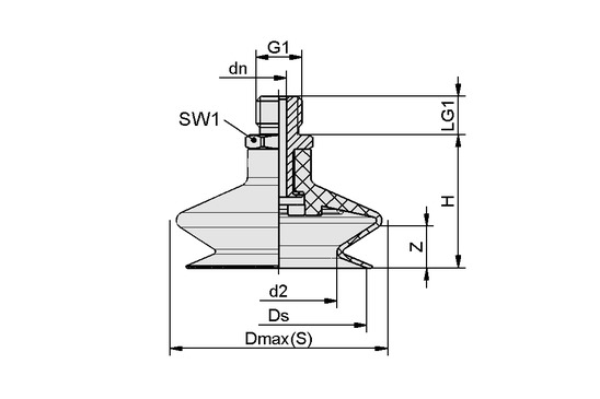 FSGA 20 NBR-ESD-55 G1/8-AG
