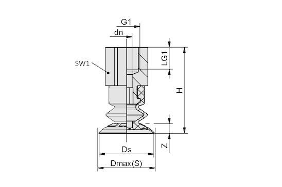 SFB1 25 EPDM-45 G1/8-IG