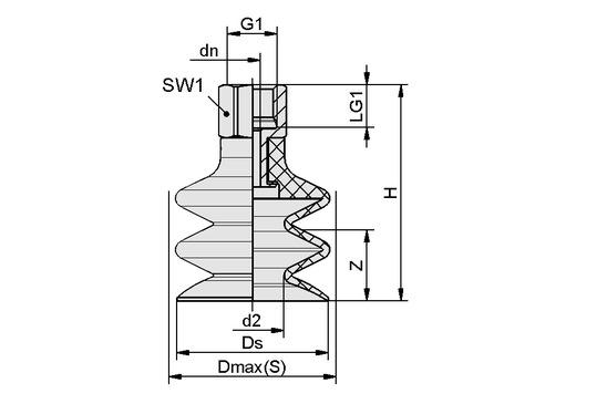 FSG 14 NBR-ESD-55 G1/8-IG