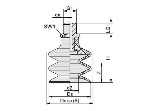 FSG 32 NBR-ESD-55 G1/4-AG