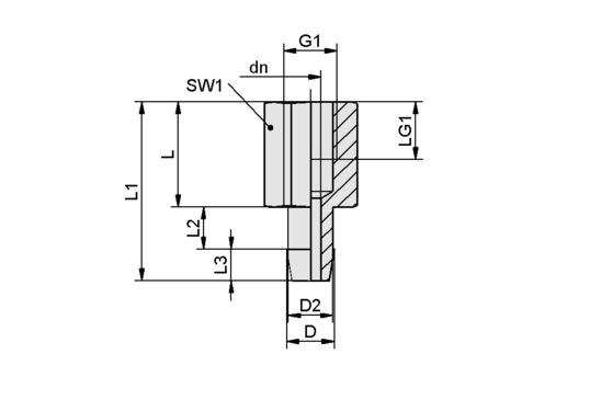 SA-NIP N016 G1/8-IG DN350