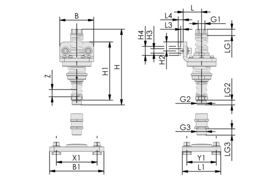 FST-FLEX 50 HD1 G1/2-AG G3/8-IG