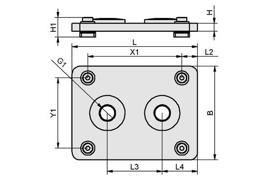 FLAN-PL 160x120x10 FMHD