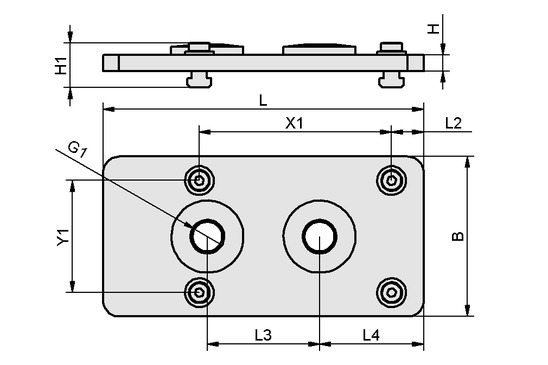 FLAN-PL 200x100x10 ST SBX