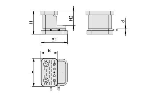 VCBL-G-K2 125x75x100 ST