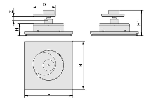 VCMC-R 212x212x45 12-80 40x40