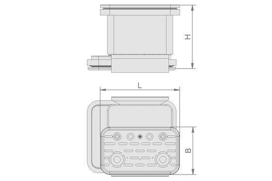 VCBL-K2 125x75x75 L TV