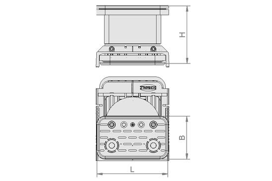 VCBL-K2 125x75x75 D-360