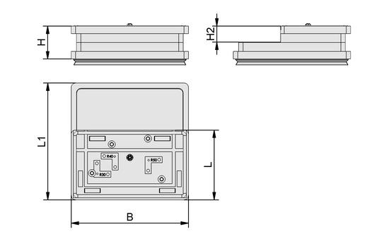 VCBL-R 160x96x45 30/50 6,5/7,5 TV