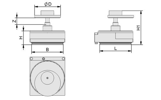 VCMC-R 120x120x45 12-80 30x30