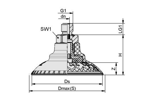 SAXM 50 ED-85 M14x1.5-AG